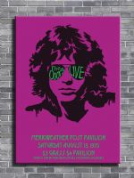 THE DOORS - LIVE 1970 - PINK canvas print - self adhesive poster - photo print